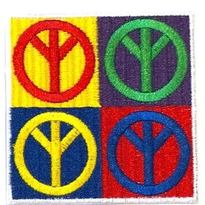 Accessories - Peace Sign Patch iron on Hippie badge DIY boho